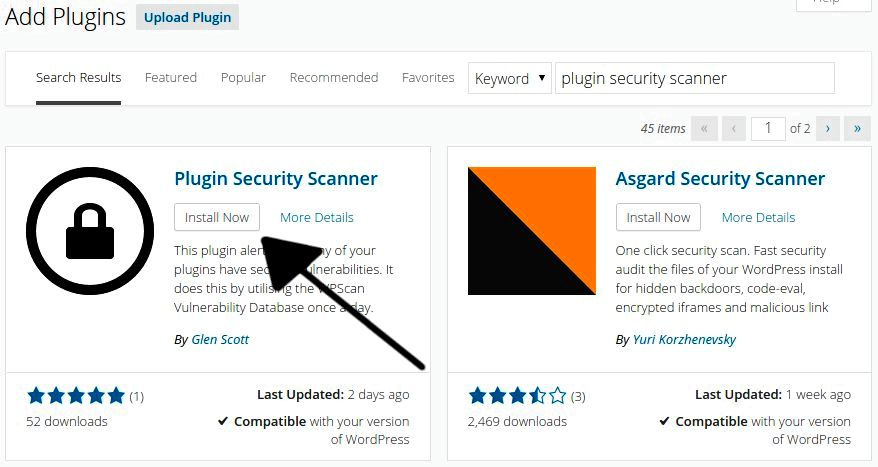 Asgard security scanner — wordpress plugins c99, rst, r57