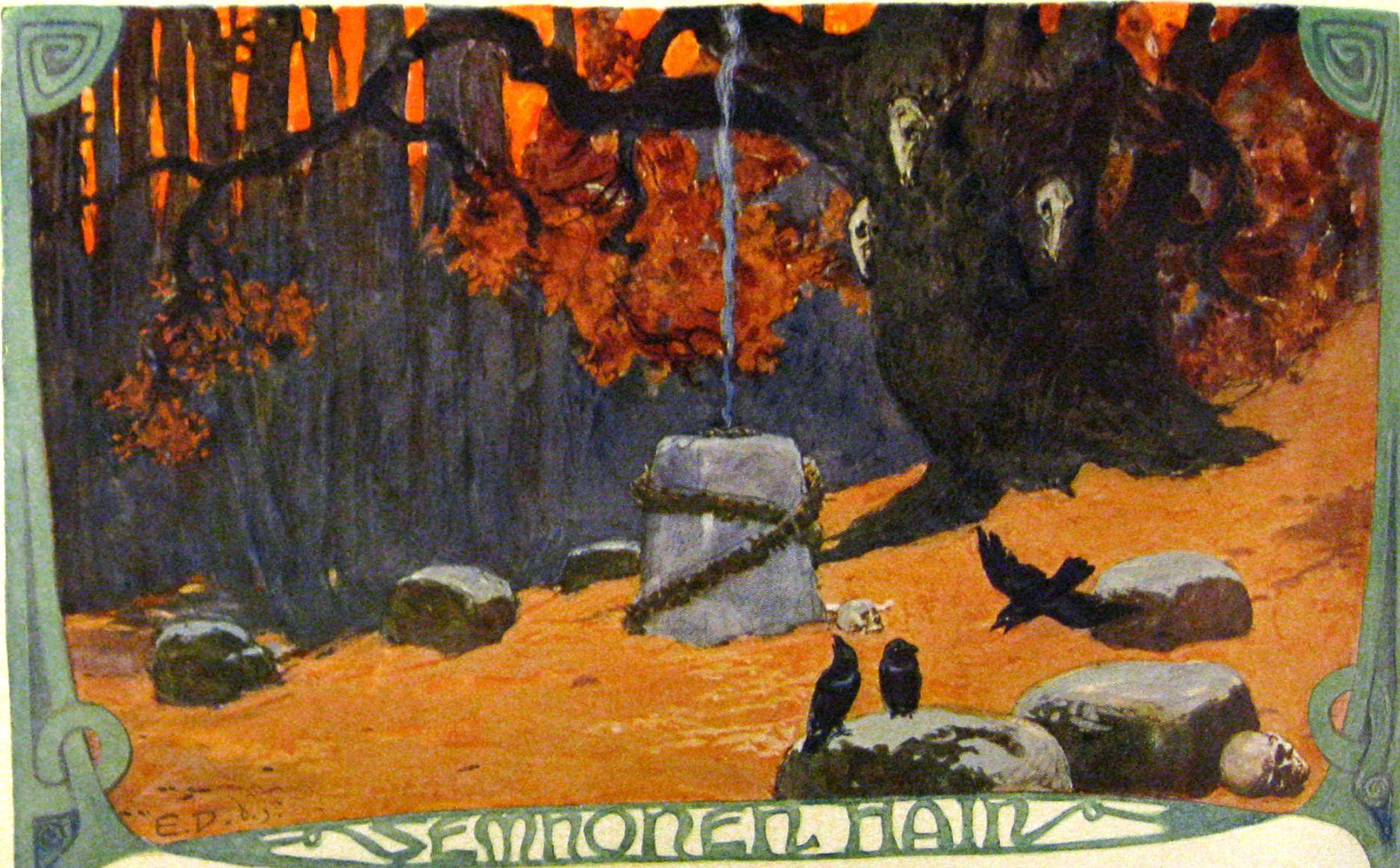 Emil doepler's illustrations of germanic mythology Dying                Nature Search