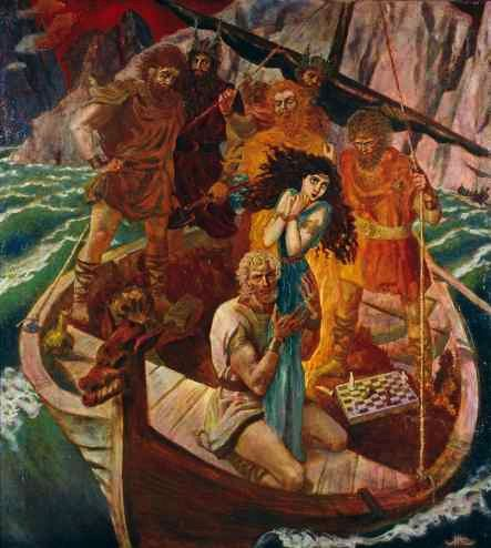 Emil doepler's illustrations of germanic mythology and Vanir                Thor and Hymir