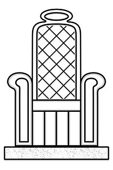 drawing, throne