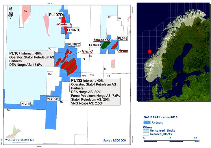 Map of the Njord field on the Norwegian continental shelf.