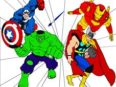 The Avengers Cartoon Coloring game