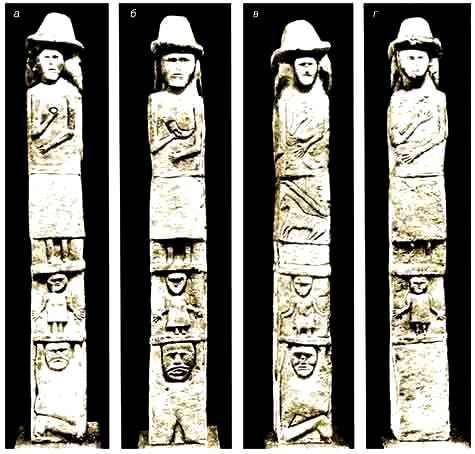 slavic gods on the Zbruch idol
