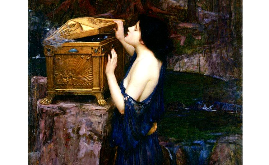 This is of pandora's box - zeus's curse on mankind The essential lady